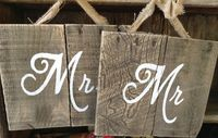 Mr and Mrs, Wooden Signs, Wedding Signs, Pallet, Pallet Art, Rustic, Distressed Married signs, Burlap, Shabby Chic on Etsy, $36.00
