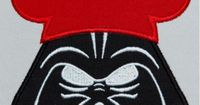 Dark Fader with Mouse Ears Space Wars Machine Applique Embroidery Design Multiple Sizes, including 4 inch