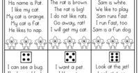 FLUENCY PRACTICE! Roll a die and read a simple sentence made of sight words and CVC words! Color a star each time you read it! FUN ! Tons of other great printables!