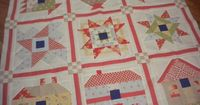 I like this method of sashing in order to make a quilt just a bit larger. A Quilting Life - a quilt blog: Quilt Project Management