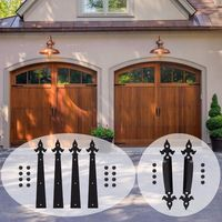 Decorative Carriage House Garage Handle Hinge Accent Set Sliding Barn Door Hardware Kit Arrow Style 2 Handles 4 Hinges $85.00