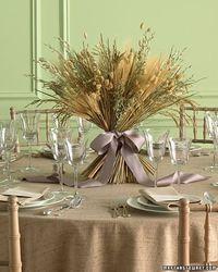 Project ideas for reception table arrangements.