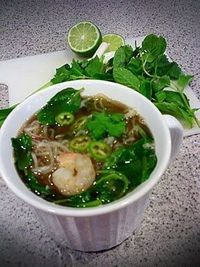 Faux Pho (I must try this with my Miracle Noodles!)