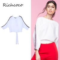 Oversized Slimming White Tie Casual 9/10 Sleeves Hoodie Top - Bonny YZOZO Boutique Store