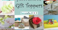 16 creative homemade gift toppers 16 Unique Gift Toppers