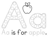 Do a Dot Free Printables   Free Printable: Aa is for Apple Tot & Preschool Pack