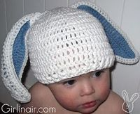 Girl in Air BLOG: Crochet a Bunny Hat for Easter