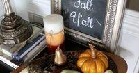 Happy Fall Yall - Chalkboard Art Tutorial - Fall Decor - artsychicksrule.com #chalkboard #art #sign #falldecor
