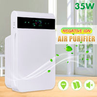 35W Negative Ion Anion Air Purifier Smart Dual Sensor Smog Dust PM2.5 Formaldehyde Removal Multi-filter Purifying Machine