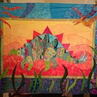 Threadbias: Dinosaur baby quilt by Tenar