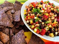 Simple Healthy Cowboy Caviar Recipe! This is so easy to put together and made with organic ingredients. Use as dip or toppings on one of your favorite dish! https://www.kathysvegankitchen.com/cowboy-caviar/