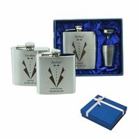 Personalized Groomsmen gift ,best man gift 4 oz or 6oz ounce stainless steel hip flask $22.99