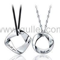 Engraved WITH YOU Couples Necklaces Jewelry for Two 925 Sterling Silver