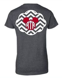 RTR Chevron and Mickey Inspired Monogram by CreateCelebrateMagic, $19.00