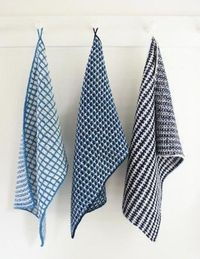 Slip Stitch Dishtowels By Purl Soho - Free Knitted Patterns - (purlbee)