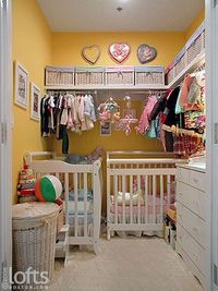 15 creative nurseries built into closets. These closet nurseries make the most of small space and have lots of little details to keep the rooms cozy but still f