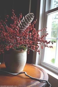 Transform a bleak space in your home with winterberry.