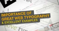Typography is one of the visual elements that can be used to create great web design. The importance of good web typography is proportionate to that of good web