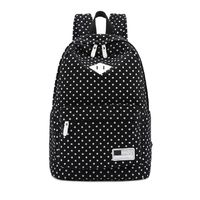 Backpack Bags For Unisex Canvas Backpack Polka Dot Girls Boys School Shoulder Bag Travel Rucksacks mochila feminina $45.60