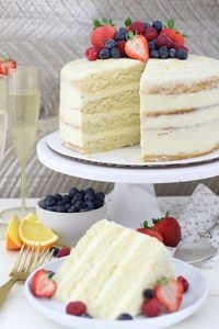 Whether you're celebrating the holidays or not, this Mimosa Cake will be a crowd pleaser. This cake is a moist champagne sponge cake with an orange Swiss meringue buttercream frosting.