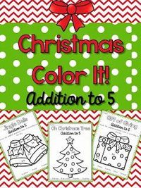 http://www.teacherspayteachers.com/Product/Christmas-Color-It-addition-to-5-1021622