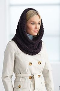 161093 hooded cowl small2 Infinity crocheted scarf with free pattern download