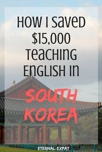 Everything you need to know if you're considering teaching English in Korea. From the application process to the money you can save travel.