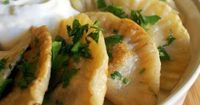 Pierogi. If you've never experienced this fabulous Polish dish, you're missing a treat! My favorite Pierogi is made with leftover stuffing. mmmm.... but ALL Pierogi is fabulous!