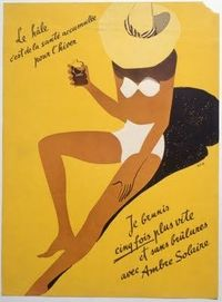 Vintage French ad for sun bronzer