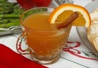 Love and joy will come to you, and to you your wassail too, when you offer a warm glass (with or without rum) to arriving family members.