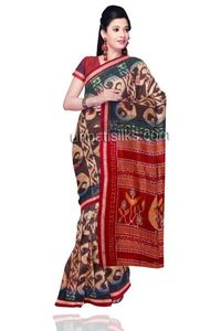Fascinating traditional grey tie & dye rajkot sico patola weaving saree