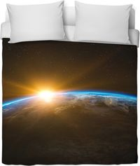 View Of Earth Duvet Cover $120.00