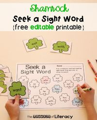 Bring some fun to your literacy centers this month with this Editable St. Patrick's Day Sight Word Game! Choose the words you want your students to work on with