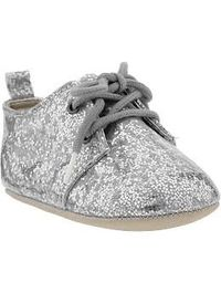 Glitter Lace-Front Shoes for Baby   Old Navy