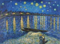 Starlight over the Rhone Near Arles - Vincent Van Gogh -1888