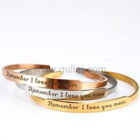 Gullei.com Personalized Cuff Bracelet Birthday Gift for Mom