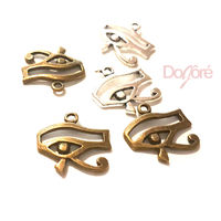 Pack of 20 Eye of Horus Charms. Bronze or Silver Egyptian Pendants. Wadjet Protection. 18mm x 16mm £7.99