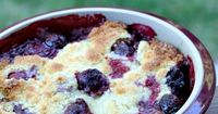 Recipe for Easy Cherry Cobbler- nothing fancy about this one, but it's completely delicious. Photographs included.