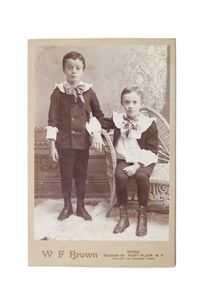 Antique Cabinet Photo Brothers. Twins Vintage Photography Boys Fashion Victorian Photograph CC#10008 $15.00