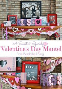 A Valentine's Day Holiday Mantel from Bombshell Bling