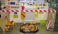 construction zone play area - would be a neat Kindergarten learning centre