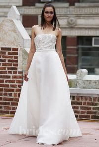 Anne Bowen - Fall 2013 - Strapless Satin A-Line Wedding Dress with Beaded Bodice - Stunning Cheap Wedding Dresses|Prom Dresses On sale|Various Bridal Dresses