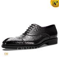 CWMALLS® Croc Embossed Leather Oxfords CW716036