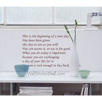 """Description: Size : 36.2"""" W x 16.5""""H (92cm x 42cm) Category : Quotes Wall Sticker Material : Vinly Wall Sticker Room :bedroom, living room, office Color:Brown Includes:Words"""