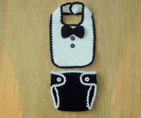 Cute Little Man Crochet BIB, BOW TIE Picture only
