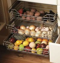 Wire Pullout Baskets for garlic, onions, potatoes, sweet potatoes, etc.