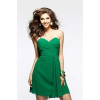 Nectarean A-line Sweetheart Ruching Short/Mini Chiffon Wedding Guest Dresses - Dressesular.com