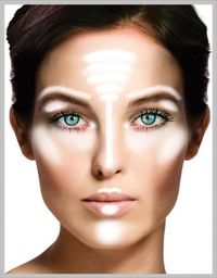 Where to apply highlighter, this is important so many miss this step. #makeup #beauty #face #skin #lips #FYI #DIY #bride #fashion #pretty #MiWeddingNeeds