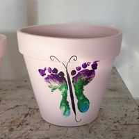 Footprint plant pot... Mother's day gift idea
